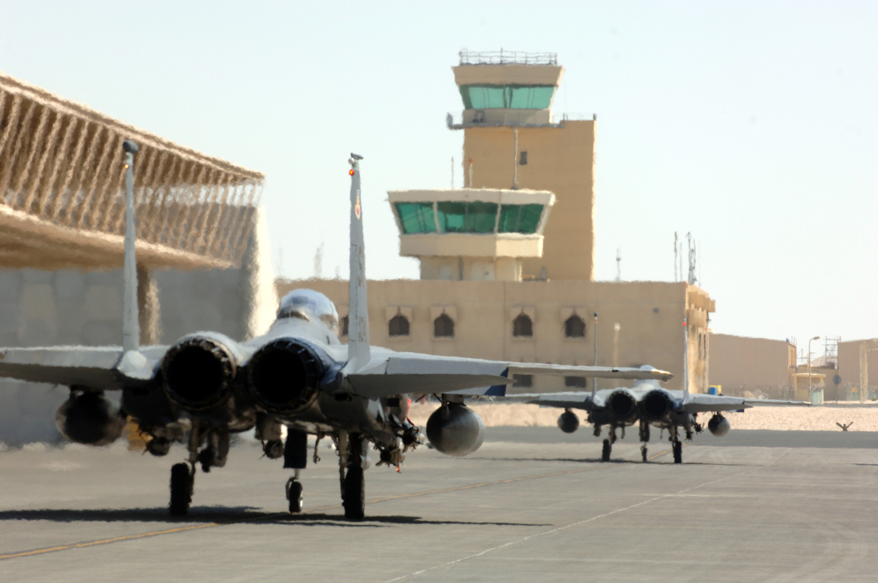 U S  extends runways at Qatar air base to accommodate B-2