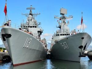 China PLA navy vessels.