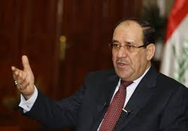 Iraq's Prime Minister Nuri al-Maliki speaks during an interview with Reuters in Baghdad January 12, 2014.  /Reuters/Thaier Al-Sudani