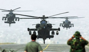 U.S. Apache helicopters