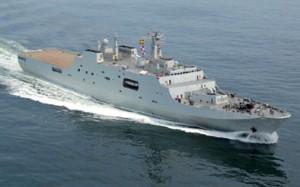 Chinese Type 071 Amphibious Transport Dock ship.