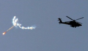 IDF confirms that a Soviet-made Strela (SA-7) anti-aircraft missile was fired at a helicopter.