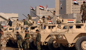 The Iraqi military is reportedly building fortifications near the capital, Baghdad, to repel potential attacks by ISIL.