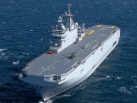 French Mistral-class helicopter carrier.