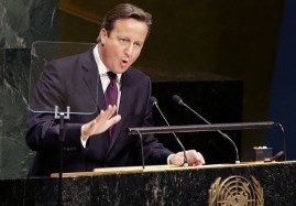 Britain's David Cameron at the UN.  /Telegraph