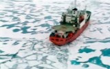 The expedition to plant a Russian flag on the seabed at the North Pole, 2007.  /Reuters