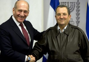 OlmertAndBarak 300x209 Israel investigates bribery charge against former defense minister Barak