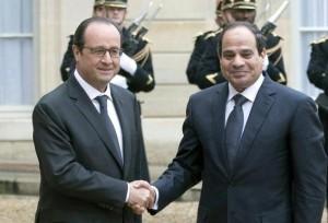French President Francois Hollande with Egyptian President Abdel Fattah al-Sisi in Paris, on Nov. 26. / Alain Jocard / AFP