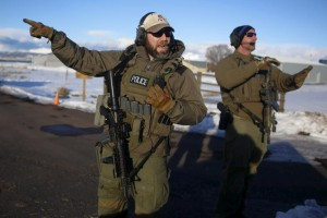 Federal agents in Oregon on Jan. 30. /Reuters