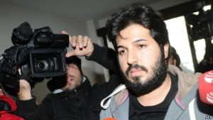 Reza Zarrab, a dual citizen of Turkey and his native Iran, arrives at a police station in Istanbul in December 2013.