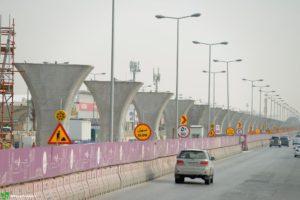 Riyadh metro construction.