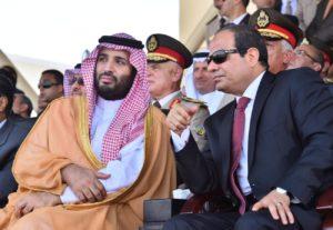 Saudi Prince Mohammed bin Salman, left, and Egypt's President al-Sisi.