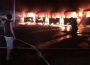 Laid off SBG workers torched several buses in Mecca.
