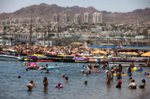 The southern Israeli city of Eilat. /AFP/Menahem Kahane