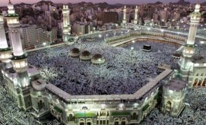 The Grand Mosque at Mecca.