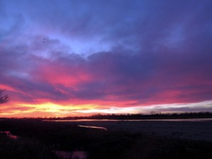 Sunset over the Platte River.