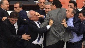 A brawl broke out in Turkish parliament on May 2 during a constitutional reforms debate. /Reuters