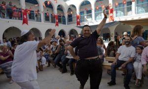 A celebration at the Ghriba synagogue in Djerba. /RFE/RL