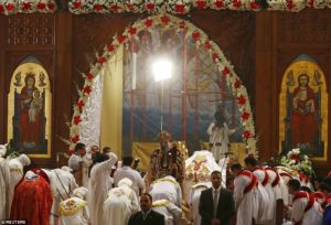 Pope Tawadros II, the 118th Pope of the Coptic Orthodox Church of Alexandria and Patriarch of the See of St Mark Cathedral, leads Egypt's Coptic Christmas eve mass in Cairo. /Reuters
