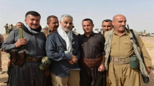 image of Maj. Gen. Qassem Suleimani purportedly showing him on an Iraqi battlefield was published on the website of IRINN state television.
