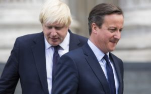 London Mayor Boris Johnson, left and Prime Minister David Cameron.