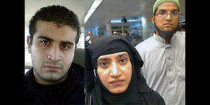 Omar Mateen, left, and Syed Farook and Tashfeen Malik.
