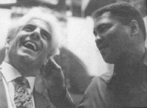 Ric Flair with Muhammad Ali.