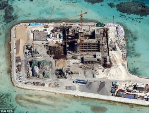 Chinese construction in South China Sea. /EPA