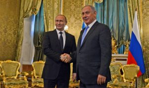 Russian President Vladimir Putin and Israeli Prime Minister Benjamin Netanyahu met at the Kremlin last month. /Haim Zach/Flash90