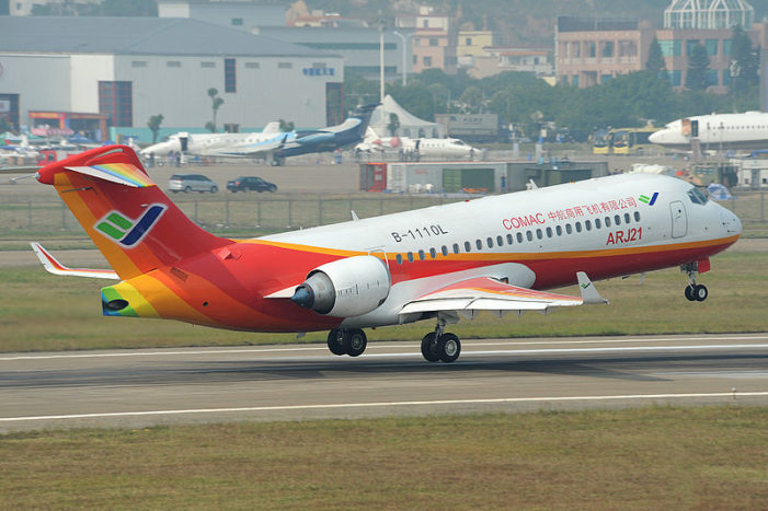 China's first airliner sputters into service