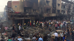 More than 250 people died in the attack in Baghdad's Karrada neighborhood on July 3. /AP