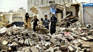 Oxfam: 'The people of Yemen are being left to struggle alone.' /AP