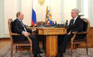Russian President Vladimir Putin with Moscow Mayor Sergei Sobyanin. / Kremlin photo