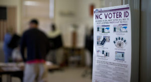 The 4th Circuit Court of Appeals has struck down North Carolina's vote ID law. /AP