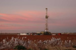 Pioneer Natural Resources rig in the Permian Basin. /Sands Weems photo