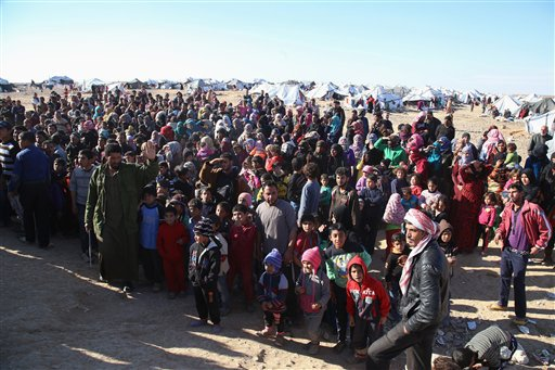 Some 75,000 refugees stranded on Syria-Jordan border reported starving