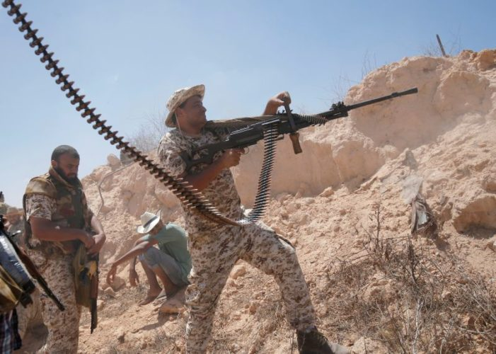 U.S. launches airstrikes against ISIL as Libyan forces advance