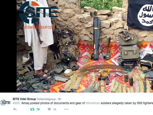 ISIL claims it has captured U.S. military equipment in Afghanistan