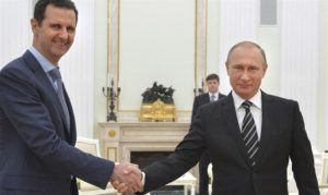 Syrian President Bashar Assad with long-time ally Russian President Vladimir Putin. /Reuters