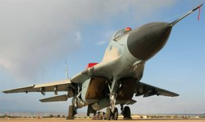 MiG-29 fighter in Dezful, Iran.