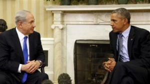 Israel's Prime Minister Benjamin Netanyahu with President Barack Obama in November.