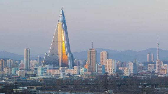 Where does bankrupt North Korea get the cash for those skyscrapers and missiles?