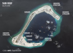 July 24 satellite image of Subi Reef. /CSIS/AMTI DigitalGlobe