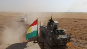 Kurdish Peshmerga forces on the southeast of Mosul, Iraq, August 14. /Reuters