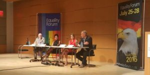 Panelists at the LGBT Equality Forum.