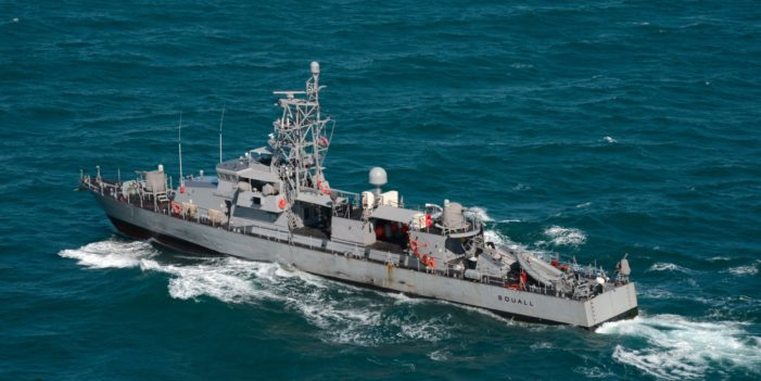 U.S. Navy patrol ship fires warning shots at Iran fast-attack boats