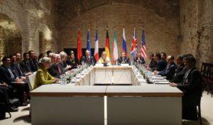 Nuclear negotiators at a meeting last summer.