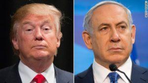 GOP presidential candidate Donald Trump and Israeli Prime Minister Benjamin Netanyahu