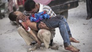 The death toll in the Syrian conflict includes over 86,000 civilians and more than 15,000 children. /AP