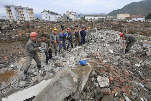 Rushing to aid North Korean victims of a massive flood near China …. wait a minute; What?